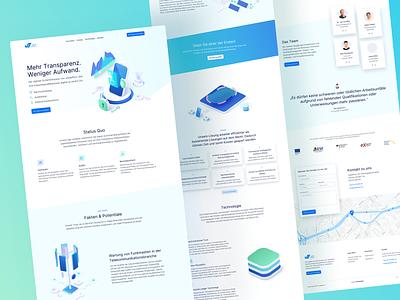 🔐 Full Landingpage for valideffect branding startup techno technology clean webdesign website ux ui
