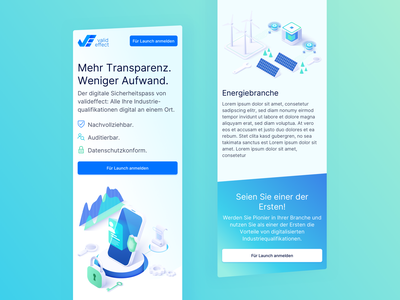 📱 Mobile View of valideffect Redesign colorful startup redesign branding conversion rate optimisation conversion landingpage webdesign website ux ui