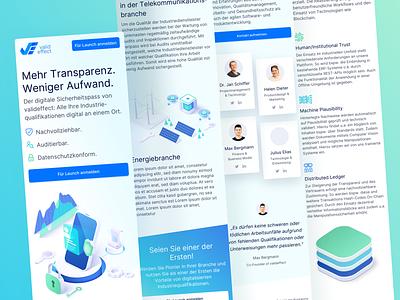 💙💚 Mobile Landingpage for valideffect branding colorful isometric interface mobile website mobile mobile design webdesign website