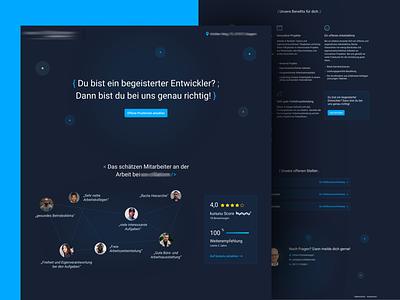 Dark Landing Page careers uxdesign uxui ux landingpage webdesign