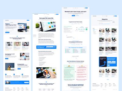 💎 Different Pages for Hostinator clean branding conversion rate optimisation conversion hostinator landingpage webdesign website ux ui