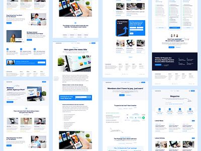 🚀 Hostinator - Pages Overview saas landing page saas design saas hosting service ux ui clean landingpage webdesign website