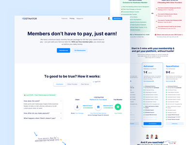 🤑 Pricing Page for Hostinator landingpage webdesign conversion rate optimisation conversion pricing table pricing plan pricing