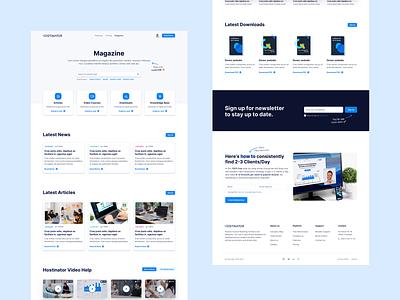 📰Magazine/Knowledge Base for Hostinator news newsfeed branding design knowledgebase glossary blog magazine landingpage webdesign website