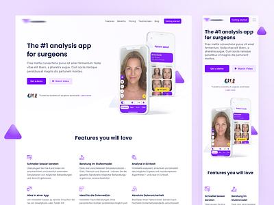 🖥📱Landingpage for Analysis App Responsive iphone app clean landingpage responsive design responsive website ux ui