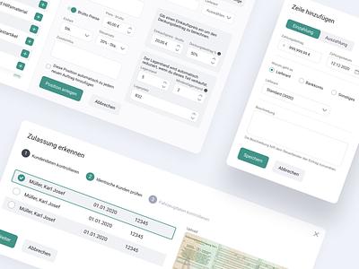 🚗 More components for EasyWerkstatt modal app ui ux design system interface web app dashboard