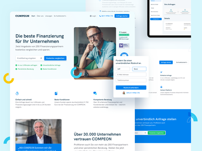 💛 Home Page for COMPEON minimal clean redesign landingpage compeon fintech webdesign website