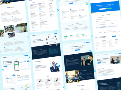 ✨ Sub Pages for COMPEON fintech compeon landingpage website redesign webdesign ui ux