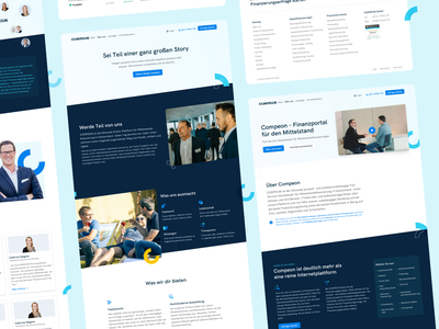 💙 COMPEON Redesign Overview #2 fintech relaunch redesign sub pages compeon landingpage webdesign website ui ux