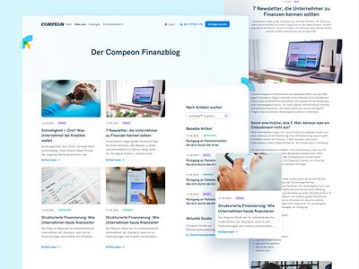 📖 Blog/Magazine for COMPEON fintech compeon blog magazine landingpage webdesign website ui ux