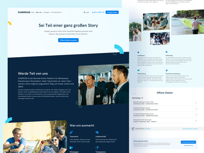 💼 Career & Job Page for COMPEON ux ui jobs fintech compeon design website webdesign job page career page