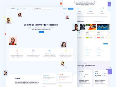 💙 Redesign for Social Learning Network Xplainme e-learning web app xplainme relaunch redesign social learning network home page landingpage