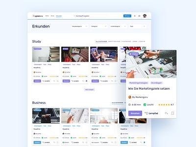 🧭 Explore Page for Xplainme xplainme redesign social social learning network learning web app explore website ux ui