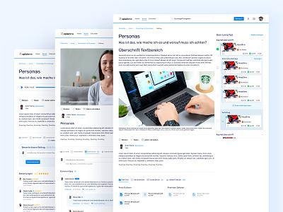 🎶 📹 💬 Different Post Types for Xplainme social network e learning xplainme blog articles post types landingpage webdesign website ux ui