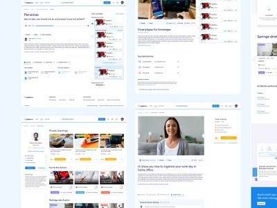 Overview Pages for Web App Xplainme community interface website webdesign xplainme e learning social learning network web app ui ux