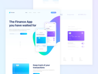 Mobile Finance App Landingpage