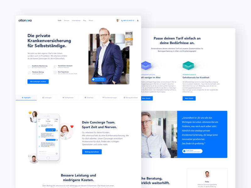 Website Redesign white webdesign landingpage health interface website ux ui