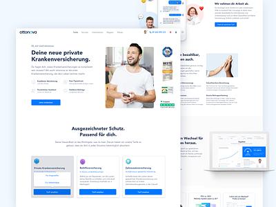 ottonova Home Page Redesign clean white ux webdesign health landingpage website ui