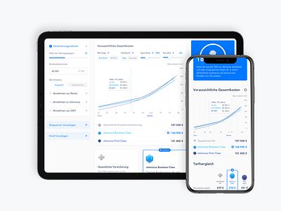 Life Calc Desktop Mobile Comparison responsive mobile calculator dashboard interface ux ui