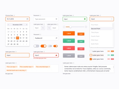 Design System for Talent Platforms (First Shot) interface ui kit button input field form design system ui ux