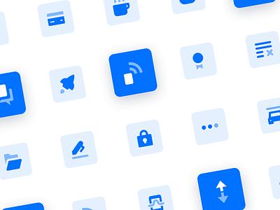 🔷 Blue Icon Set icons pack symbols icon set iconography icon interface webdesign ux ui