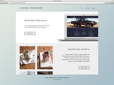 New Year, New Website ux ui websitedesign 2015 portfolio website