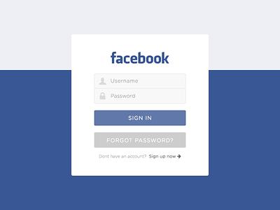 Facebook Login screen facebook login flat clean ui ux