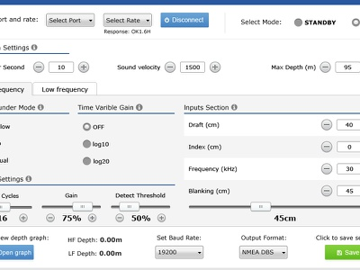 Echo Sounder Software software ui echo sounder windows