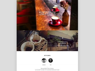 The Wedge Espresso Website bold clean website espresso cafe