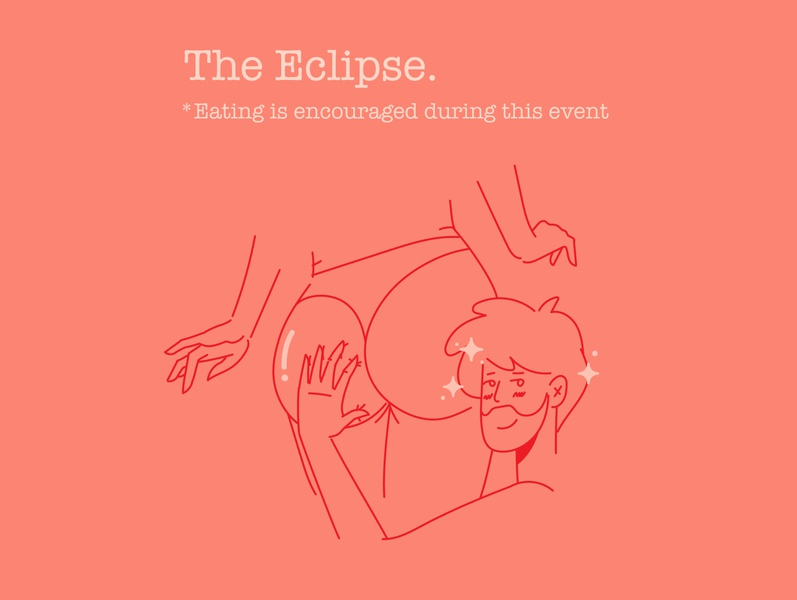 The Eclipse landingpage ui shy human boy lineart cute booty ass education eclipse covid19 coffee illustraion girl character