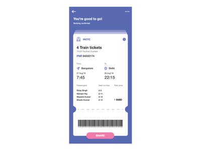 Concept ticket UI