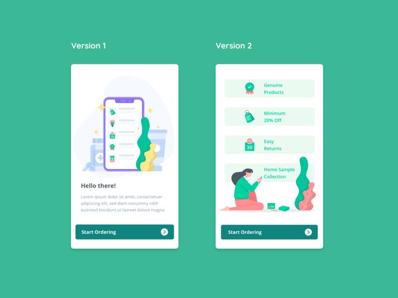 Onboarding screen medicine mobile icons illustraion app onboarding