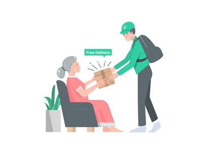 Delivery ecommerce plant grandma free package delivery medicine