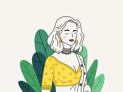Lehenga hair saree indian lehenga plant girl ui