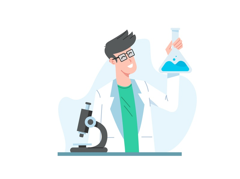 Lab test icons ui design medicine test microscope lab doctor ecommerce illustraion app ui