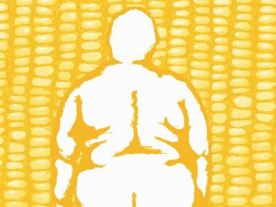 Propaganda Poster - Corn Lady digital illustration digital illustration