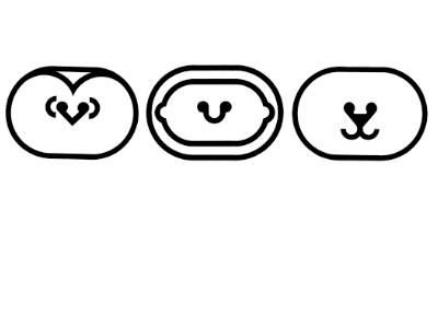 Icon Set - Penguin, Eskimo, Seal black and white icon tech pen