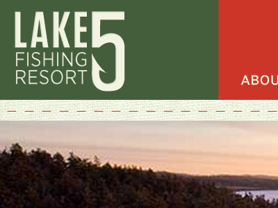 Lake 5 Fishing Resort web design identity typography