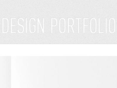 Portfolio Website  web design portfolio typography
