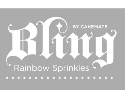 Re-Re-Redesign Bling Sprinkles sprinkles packaging illustrated type blackletter
