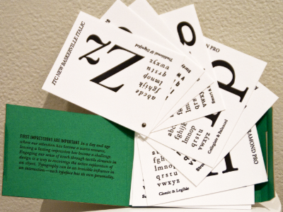Thesis Project typography letterpress