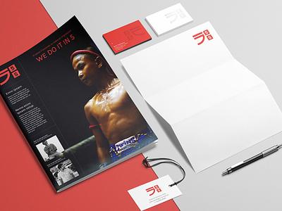 5S - Branding logo red print branding