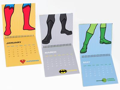 Justice League Shoe Calendar