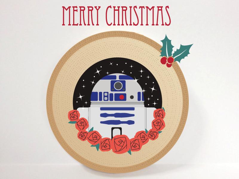 dribbbler2d2 - Merry Christmas Star Wars