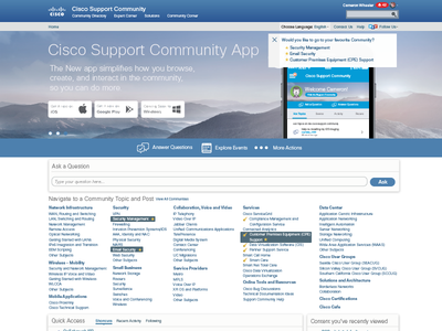 The Cisco Support Community - English