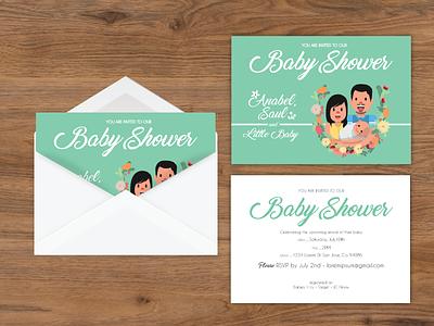Baby Shower Invitation card envelope invitation shower baby