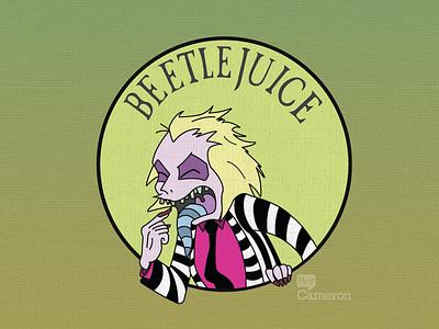 Beetlejuice, Beetlejuice, BEETLEJUICE!! illustration character horror textures cartoon beetlejuice juice beetle
