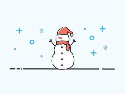 Snowman krampus season the tis vector simple christmas snow happy holidays snowman
