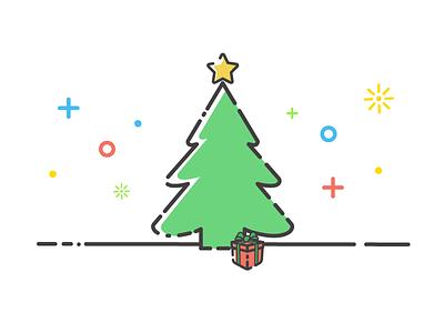 Christmas Tree tis the season magical presents stars tree happy christmas happy holidays