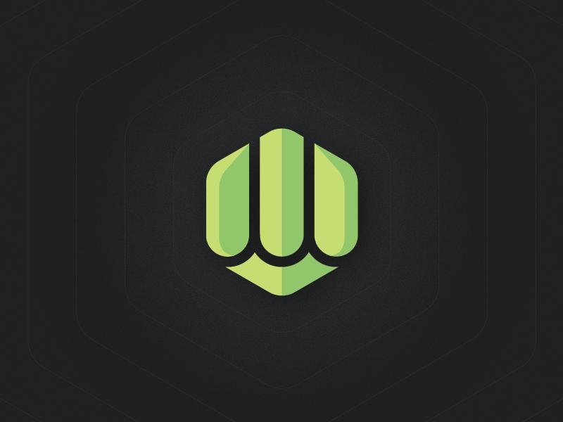 Personal Hex personal logo green hexagon